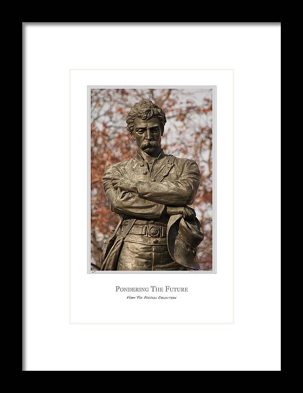 Confederate Soldier Framed Print featuring the digital art Pondering The Future by Joe Paradis