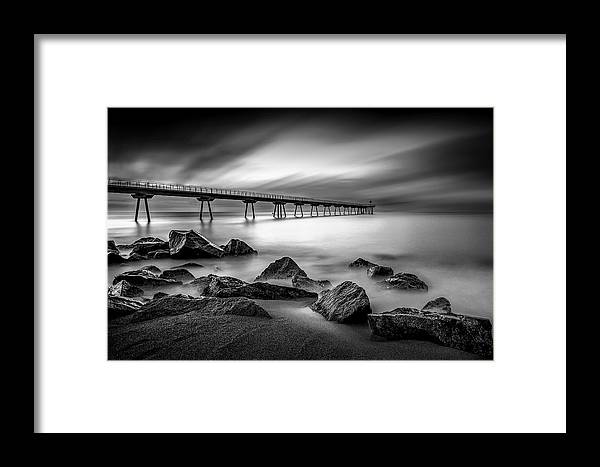 Sunrise Framed Print featuring the photograph Pont Del Petroli by Roser Gimeno