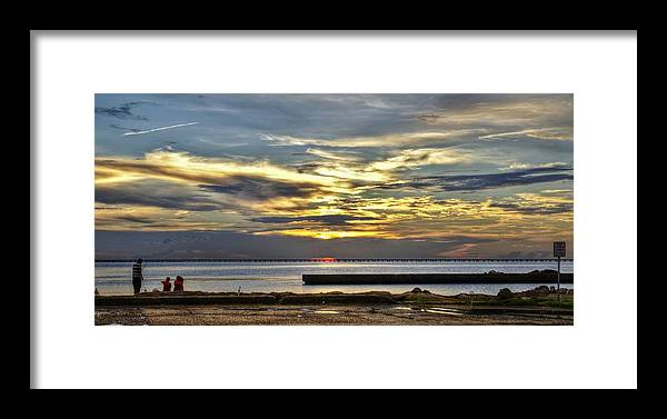 New Orleans Framed Print featuring the photograph Pontchartrain Sunset by William Morgan