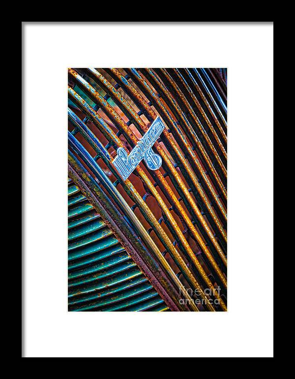America Framed Print featuring the photograph Pontiac Grille by Inge Johnsson