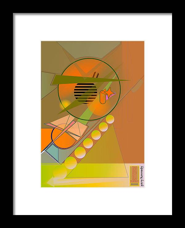 Abstract Framed Print featuring the digital art Pool Hall by Gary Kennedy