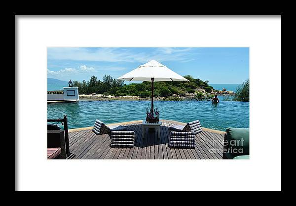 Michelle Meenawong Framed Print featuring the photograph Pool by Michelle Meenawong