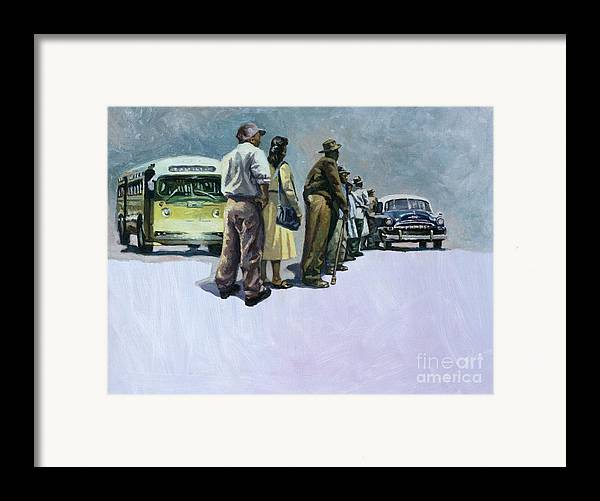 Rosa Parks Framed Print featuring the painting Pools Of Defiance by Colin Bootman