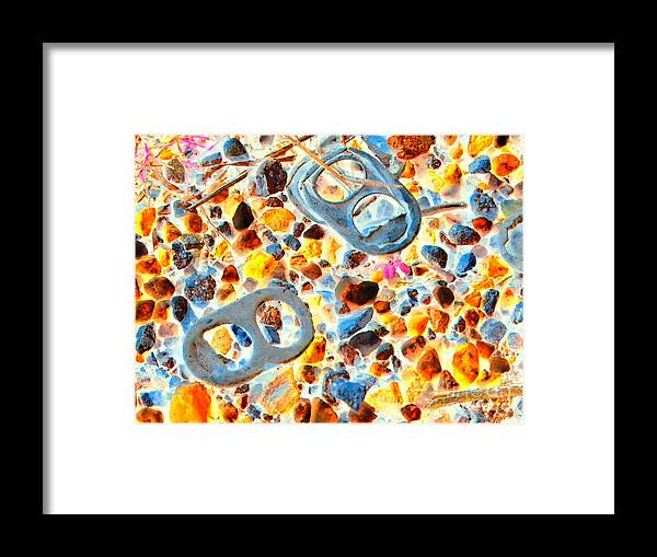 Abstract Framed Print featuring the photograph Pop Art b16 by Rrrose Pix