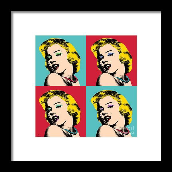 Pop Art Framed Print featuring the painting Pop Art Collage by Mark Ashkenazi