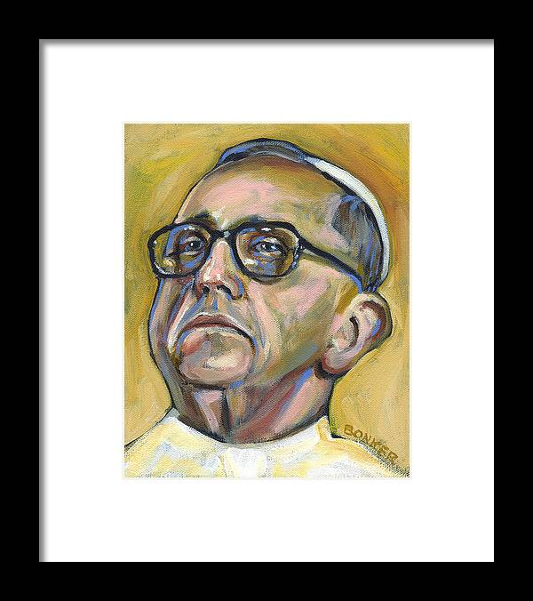 Pope Framed Print featuring the painting Pope Francis by Buffalo Bonker