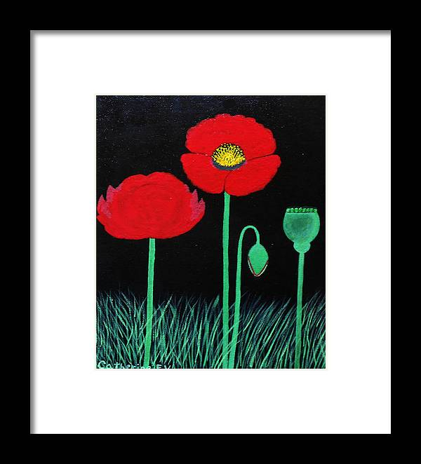 Poppies Framed Print featuring the painting Poppies by Catherine Velardo