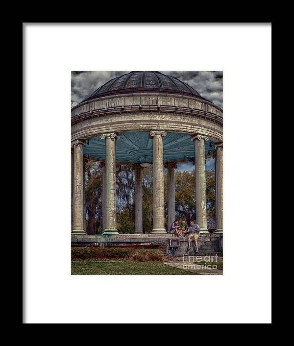 Columns Framed Print featuring the photograph Popps Bandstand In City Park Nola by Kathleen K Parker