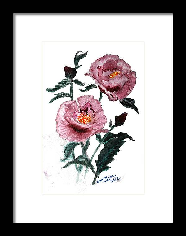 Poppy Framed Print featuring the painting Poppy by Donna Walsh