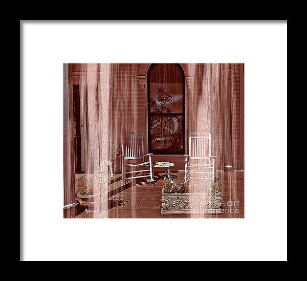 Porch - Dreaming Framed Print featuring the photograph Porch - Dreaming by Liane Wright