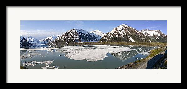 Alaska Framed Print featuring the photograph Portage Lake Panorama by Tim Grams