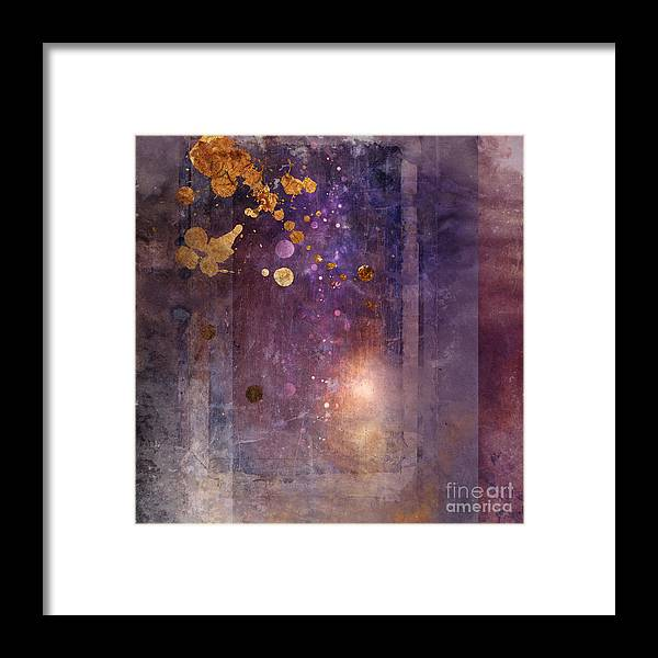 Abstract Framed Print featuring the digital art Portal Variant 1 by MGL Meiklejohn Graphics Licensing