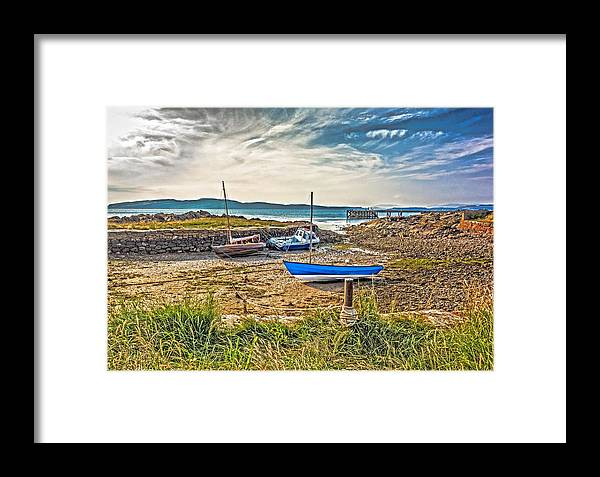 Portencross Framed Print featuring the photograph Portencross Harbour At Low Tide by Tylie Duff