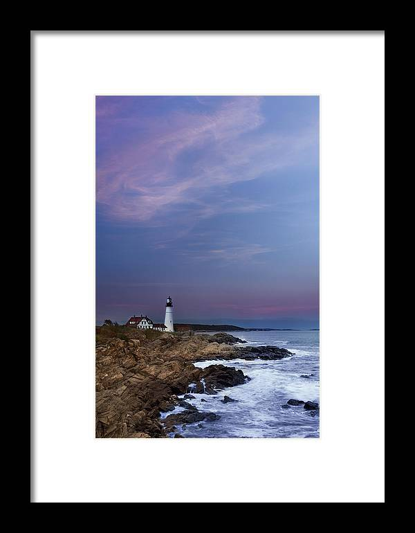 Portland Head Light Framed Print featuring the photograph Portland Head Light by Jonathan Steele