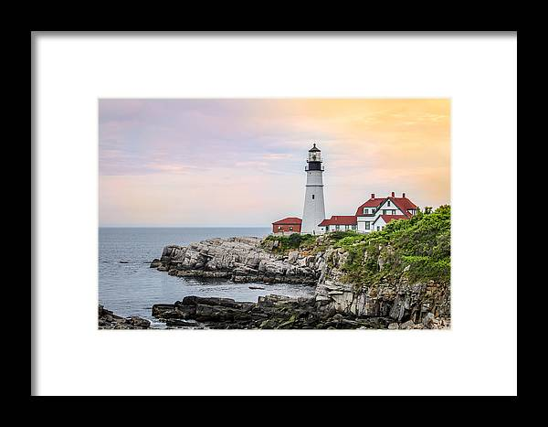 Portland Head Lighthouse Framed Print featuring the photograph Portland Head Lighthouse by Trace Kittrell
