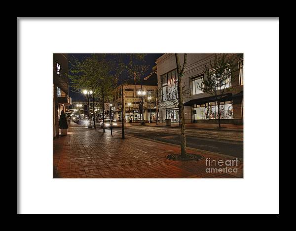 Portland Framed Print featuring the photograph Portland Night by David Bearden