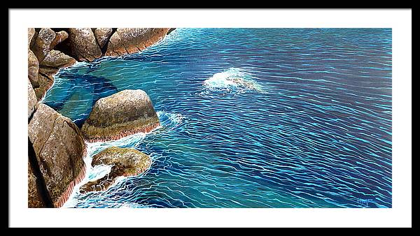 Sea Framed Print featuring the painting Portofino Sea by Hunter Jay