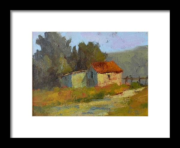Art Framed Print featuring the painting Portola Pastures by Fiorenza Gorini