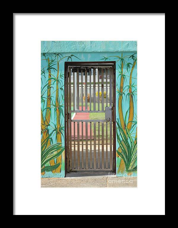 Gate Framed Print featuring the photograph Porton Cerrado by The Art of Alice Terrill