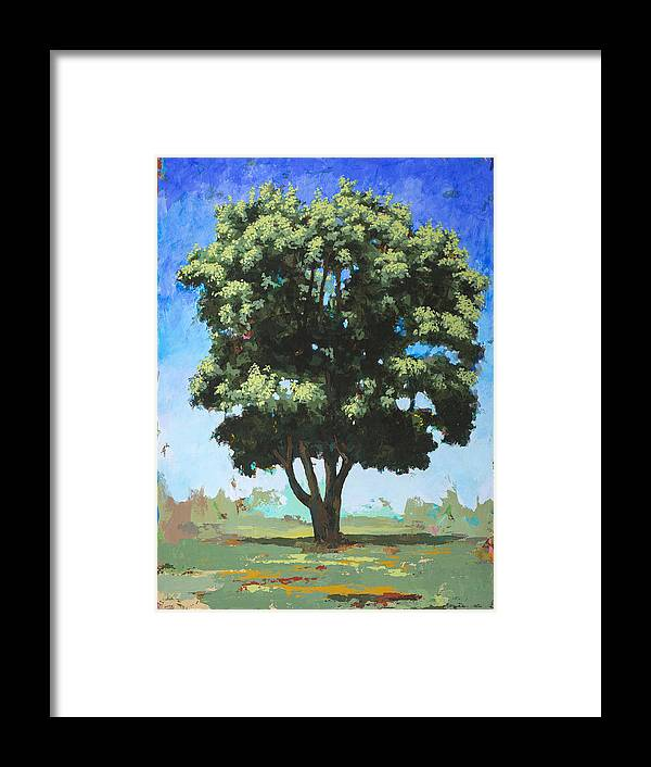 Tree Framed Print featuring the painting Portrait #6 by David Palmer
