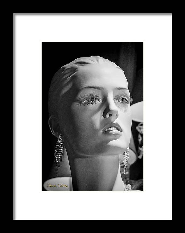 Model Framed Print featuring the photograph Portrait In Black And White by Chuck Staley