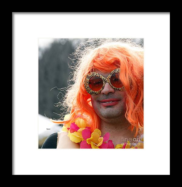 Men Framed Print featuring the photograph Portrait In Redhead Drag by  Steven Digman