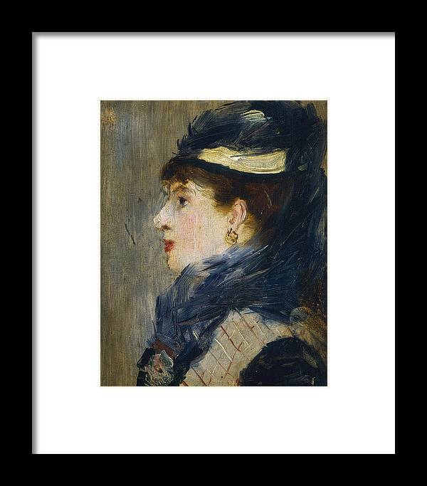1879 Framed Print featuring the painting Portrait Of A Lady by Edouard Manet