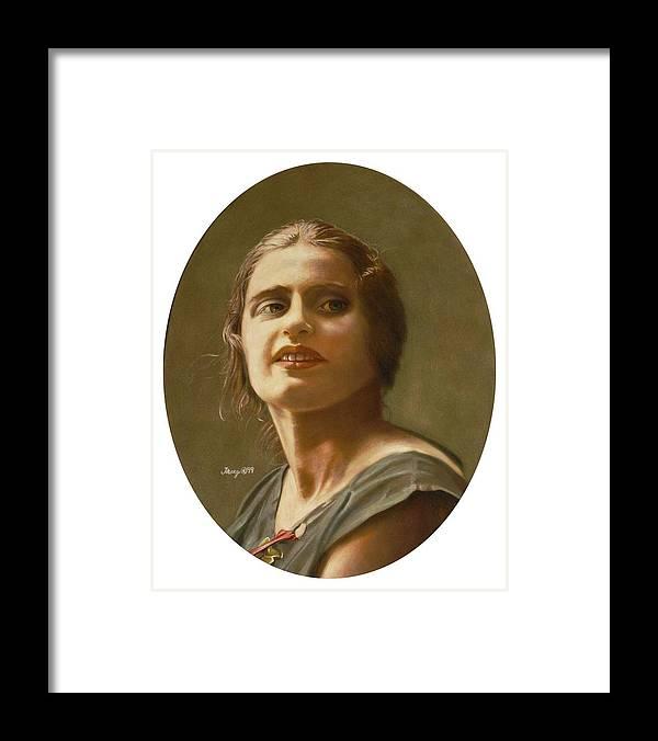 Portrait Of Ayn Rand Framed Print featuring the painting Portrait of Ayn Rand by Robert Tracy