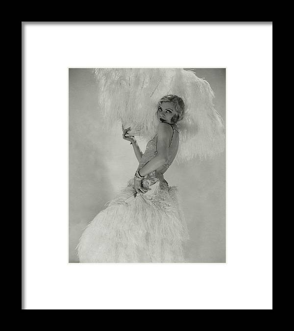 Accessories Framed Print featuring the photograph Portrait Of Claire Luce by Edward Steichen