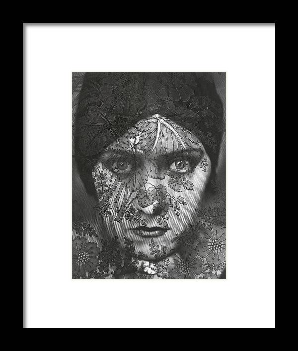Portrait Of Gloria Swanson Behind Lace by Edward Steichen