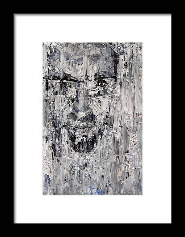 Portrait Framed Print featuring the painting Portrait Of Michael by Jim Vance
