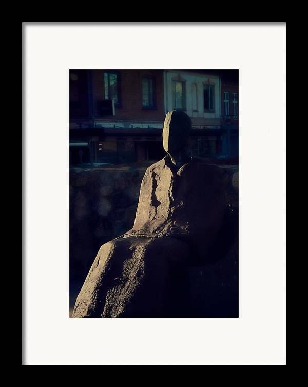 Self Framed Print featuring the photograph Portrait Of Self by Odd Jeppesen