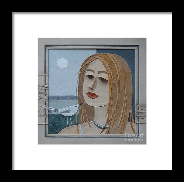 Girl Framed Print featuring the painting Portrait by Yakubouskaya Olga