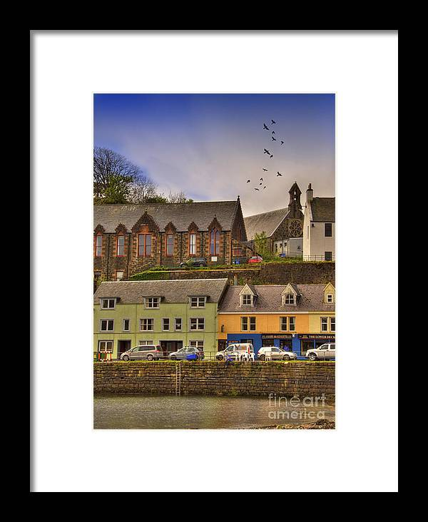 Architecture Framed Print featuring the photograph Portree. Isle Of Skye. Scotland by Juli Scalzi