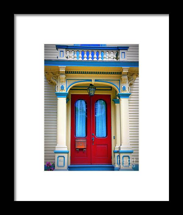 Portsmouth Framed Print featuring the photograph Portsmouth Door 7 by Kevin Fortier