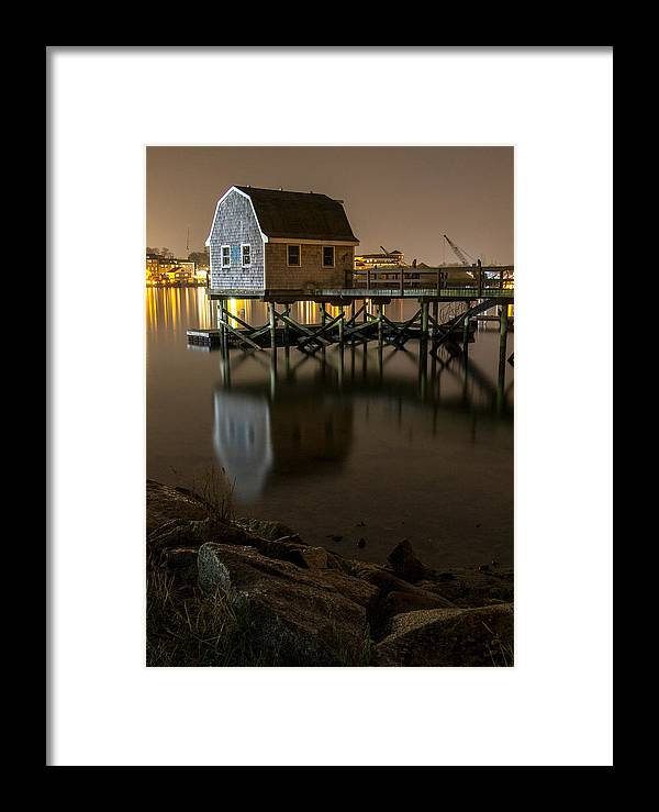 Portsmouth Framed Print featuring the photograph Portsmouth Harbor Night 1 by Phillip McNeil
