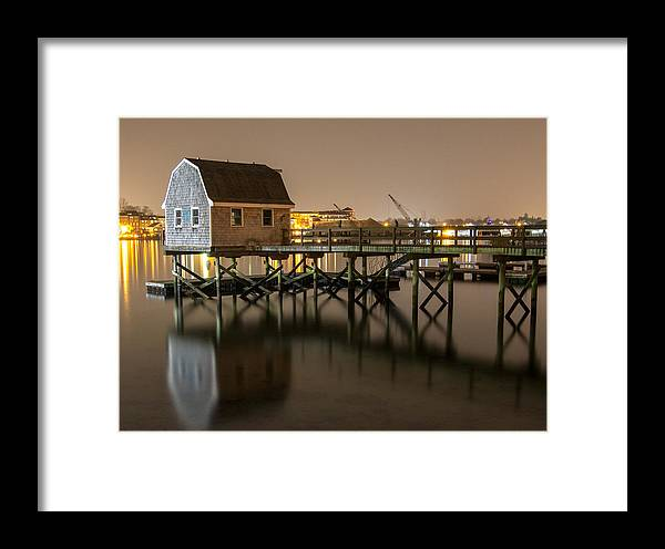 Portsmouth Photographs Framed Print featuring the photograph Portsmouth Harbor Night 2 by Phillip McNeil