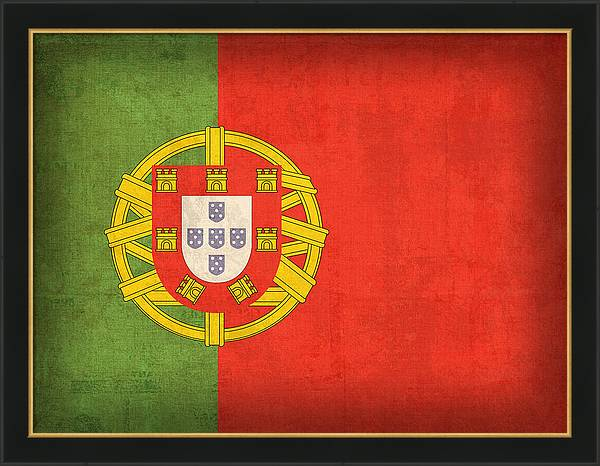 Portugal Flag Vintage Distressed Finish by Design Turnpike