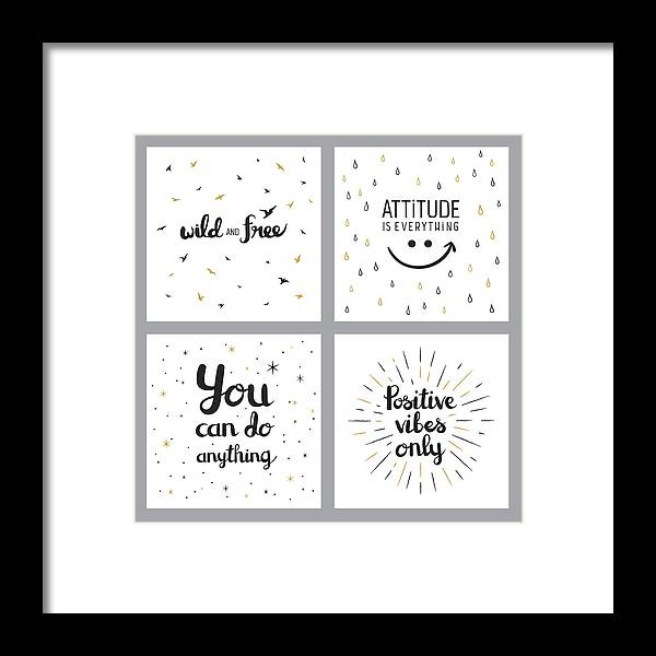 Positive Inspirational Quotes Framed Print