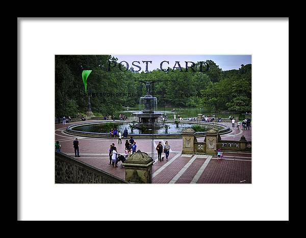 Central Park Framed Print featuring the photograph Postcard From Central Park by Madeline Ellis