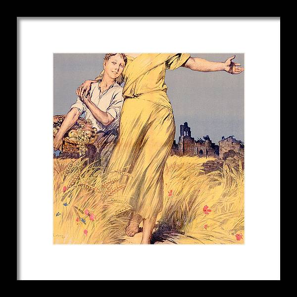 World War One Framed Print featuring the painting Poster Advertising The National Loan by Rene Lelong