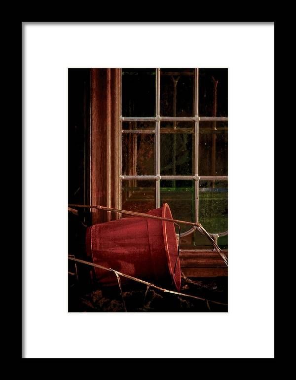 Pot And Panes Framed Print featuring the photograph Pot And Panes by Odd Jeppesen