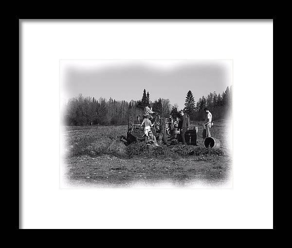 Potato Harvest Framed Print featuring the photograph Potato Harvest 18 by Gene Cyr