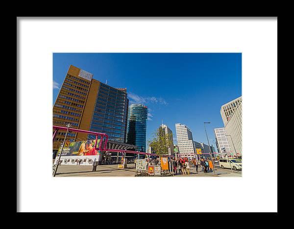 Potsdamer Platz Framed Print featuring the photograph Potsdamer Platz by Jonah Anderson