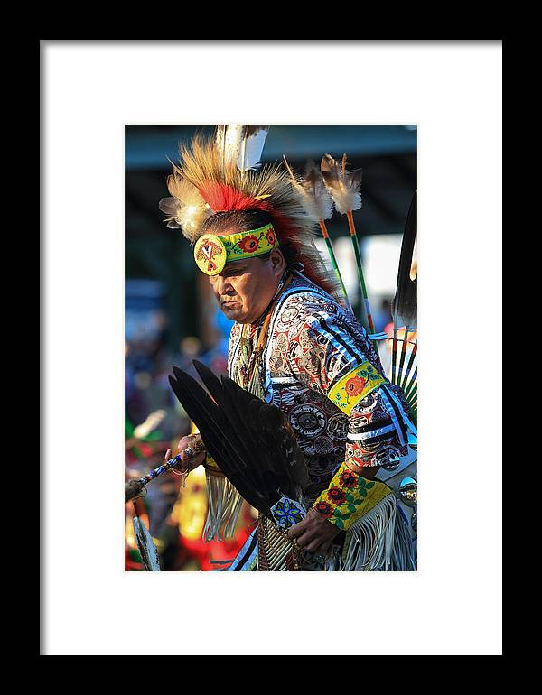 Honor The Earth Framed Print featuring the photograph Pow Wow 14 by Keith R Crowley