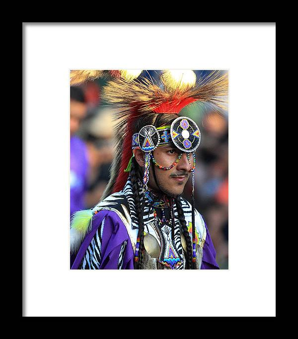 Honor The Earth Framed Print featuring the photograph Pow Wow 16 by Keith R Crowley