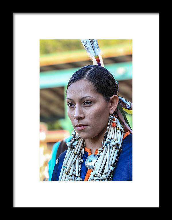 Honor The Earth Framed Print featuring the photograph Pow Wow 35 by Keith R Crowley