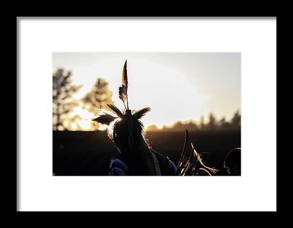 Honor The Earth Framed Print featuring the photograph Pow Wow 50 by Keith R Crowley