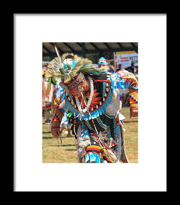 honor The Earth Framed Print featuring the photograph Pow Wow 65 by Keith R Crowley