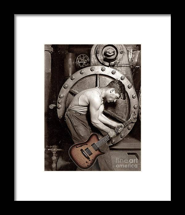 Guitar Framed Print featuring the photograph Power Chord Mechanic by Martin Konopacki